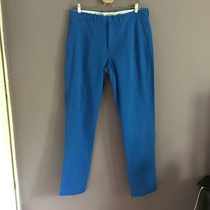 J.Crew Pleated Blue Chino Pants 34x34